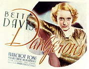 Lobbycard Framed Prints - Dangerous, Bette Davis, 1935 Framed Print by Everett