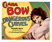 Lobbycard Framed Prints - Dangerous Curves, Clara Bow, 1929 Framed Print by Everett