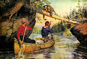 Portage Painting Prints - Dangerous Encounter Print by JQ Licensing