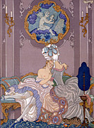 Fountain Scene Framed Prints - Dangerous Liaisons Framed Print by Georges Barbier