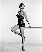 Esther Prints - Dangerous When Wet, Esther Williams Print by Everett