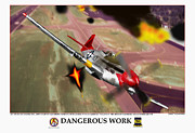 World War Two Photo Posters - Dangerous Work Poster by Jerry Taliaferro