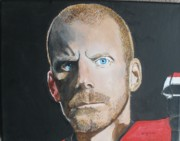 Hockey Paintings - Daniel Alfredsson by Betty-Anne McDonald