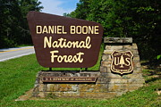 Tennessee Landmark Prints - Daniel Boone Print by Robert Harmon