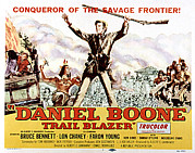 Lobbycard Framed Prints - Daniel Boone, Trail Blazer, Bruce Framed Print by Everett