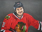 Flyers Drawings Posters - Daniel CARBOMB Carcillo Poster by Brian Schuster