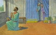 Biblical Pastels Prints - Daniel Caught Praying Print by Robert Casilla