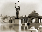 Columbian Exposition Posters - Daniel Chester Frenchs Statue Poster by Everett