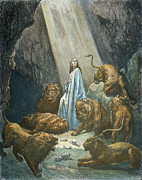 Daniel Photo Prints - Daniel In The Den Of Lions Print by Granger