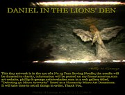 Modern Micro Art Sculptures - Daniel In The Lions Den Info Photo No.1 by Phillip H George