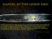Daniel Sculpture Framed Prints - Daniel In The Lions Den  Framed Print by Phillip H George