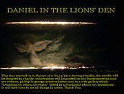 Daniel Sculpture Posters - Daniel In The Loins Den Info Photo No.2  Poster by Phillip H George