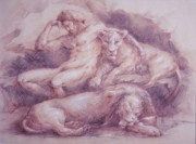 Biblical Pastels Prints - Daniel Print by Mara Buck