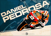 Daniel Digital Art Framed Prints - Daniel Pedrosa - MotoGP 2008 Framed Print by Evan DeCiren