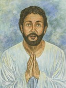 Christianity Pastels Posters - Daniel Praying More Poster by Robert Casilla