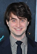 Deathly Hallows Framed Prints - Daniel Radcliffe At Arrivals For Harry Framed Print by Everett