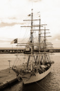 Gaspar Avila Photo Framed Prints - Danish training ship Framed Print by Gaspar Avila