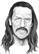 Movies Drawings Originals - Danny Trejo by Murphy Elliott