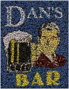 Bottle Cap Framed Prints - Dans Bar Bottle Cap Mosaic Framed Print by Paul Van Scott