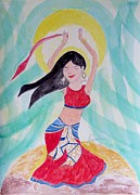 Belly Dance Paintings - Danse du ventre by Sonali Gangane