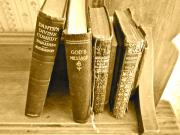 Old Books Prints - Dante God and Shakespeare ... Print by Gwyn Newcombe