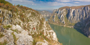 Autumn Foliage Prints - Danube Gorges Print by Gabriela Insuratelu