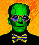 Frankenstein Posters - Dapper Monster Poster by Gary Grayson