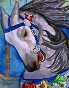 Painted Ponies Art - Dapple Grey by Colleen Kammerer