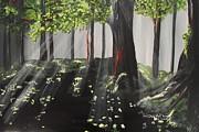 Dappled Forest 1 Print by Jayne Kerr