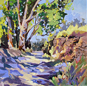 Pathway Paintings - Dappled Lane Provence by Rae Andrews
