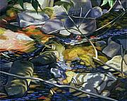 Diebenkorn Paintings - Dappled Light Trickling Water by James Burpee