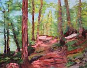 Woods Pastels Prints - Dappled Shade Print by Marion Derrett