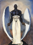 Black Man Pastels - Darc Angel by L Cooper