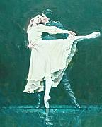 Ballet Dancers Painting Prints - DARCEY BUSSELL FAREWELL Winter Dreams Print by Charles Willmott