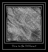 Dare To Be Different - Black And White Abstract Print by Carol Groenen