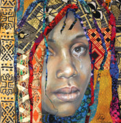 Portraits Mixed Media - Darfur 2.1 by Gary Williams