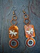 Earrings Jewelry - Daring Dragonflies by Angie DElia