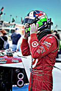 Dario Franchitti Prints - Dario Franchitti  Print by Bill Linhares