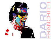 Indy Car Framed Prints - Dario Franchitti Pop Art Style Framed Print by Jim Bryson