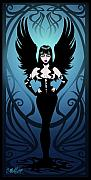 Gothic Digital Art Posters - Dark Angel Poster by Cristina McAllister