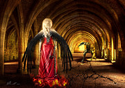Long Dress Mixed Media - Dark Angel by Svetlana Sewell