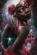 Dark Girl Prints - Dark Beauty Print by Omri Koresh