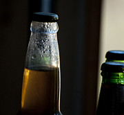 Beer Photos - Dark Beer Bottles by Wilma  Birdwell