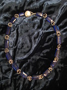 Dark Jewelry - Dark blue quartz necklace by Jan Durand