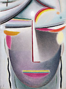 Abstract Face Paintings - Dark Buddha by Alexej von Jawlensky