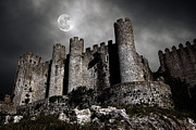 Moon Light Metal Prints - Dark Castle Metal Print by Carlos Caetano