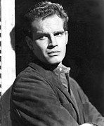 1950s Fashion Framed Prints - Dark City, Charlton Heston, 1950 Framed Print by Everett