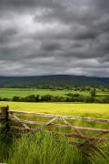 Dark Cloud Prints - Dark Clouds Over Fields, England Print by John Short