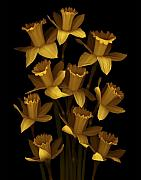 Featured Digital Art - Dark Daffodils by Marsha Tudor