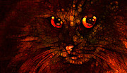 Kitten Prints Digital Art Posters - Dark Desires ll Poster by Larry Guterson